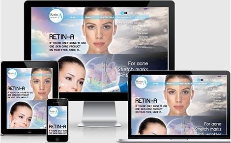รับจ้างทำเว็บไซต์retinAผลิตภัณฑ์รักษาสิว