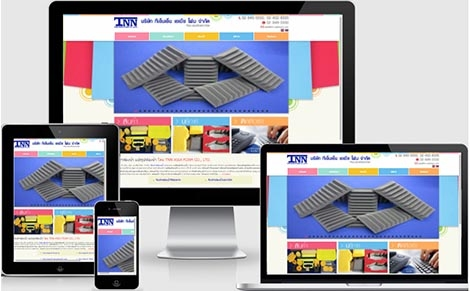 ออกแบบเว็บไซต์ ผู้ผลิตรับทำฟองน้ำ ประเภท แปรรูปฟองน้ำ