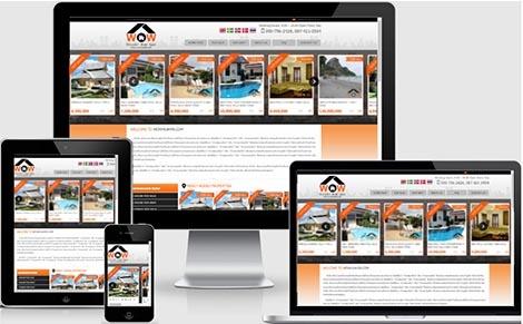 รับจ้างออกแบบเว็บไซต์ขายอสังหาริมทรัพย์