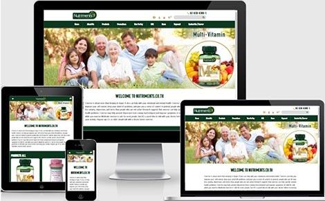 บริษัทรับทำเว็บไซต์จำหน่ายอาหารเสริมวิตตามิน