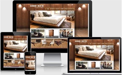 บริการรับออกแบบเว็บไซต์จำหน่ายเฟอร์นิเจอร์ เตียง โต๊ะ ตลาดนัดจตุจักร
