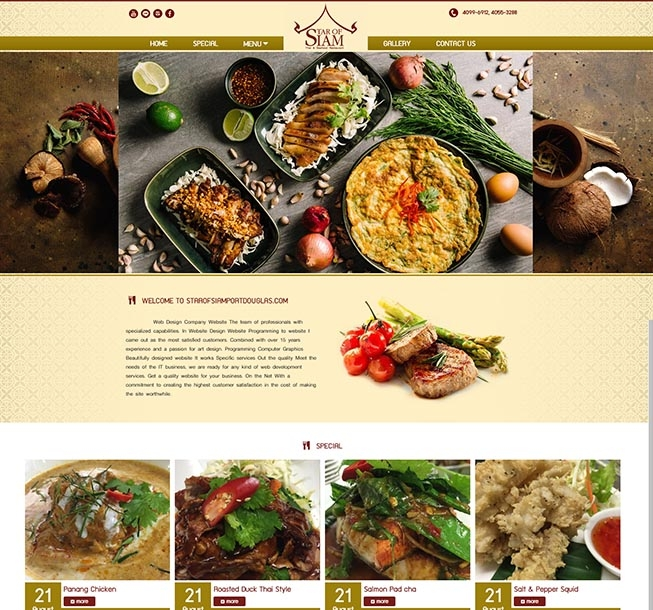 รับออกแบบเว็บไซต์ร้านอาหาร,รับทำเว็บไซต์ราคาถูกร้านอาหารต่างประเทศออสเตรเรีย