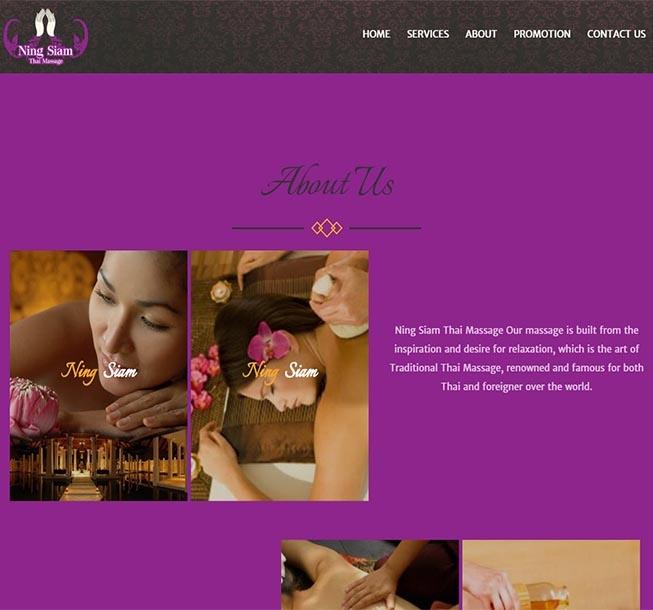 บริษัทออกแบบเว็บไซต์  เว็บสปา ต่างประเทศ นวดสปา