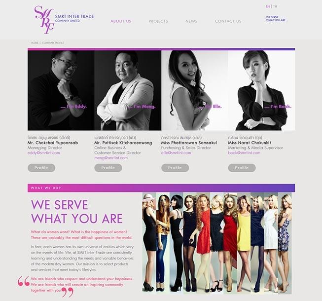 รับออกแบบเว็บไซต์ ขายเสื้อผ้า จำหน่ายเสื้อผ้า ออกแบบเสื้อผ้าแฟชั่น